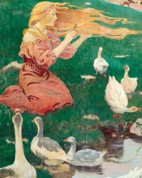 "Jessie Willcox Smith  ""The Goose Girl"" (1911)."