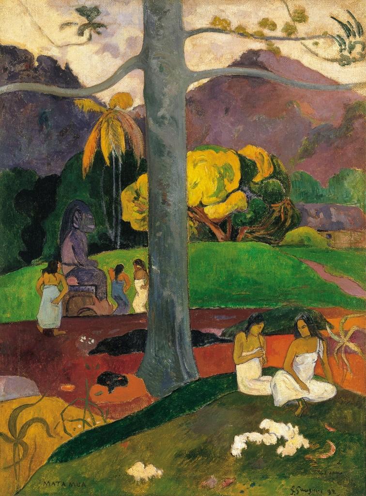 Paul Gauguin (París 1948- Islas Marquesas 1903) Mata Mua (Érase una vez), 1892, Museo Thyssen-Bornemisza