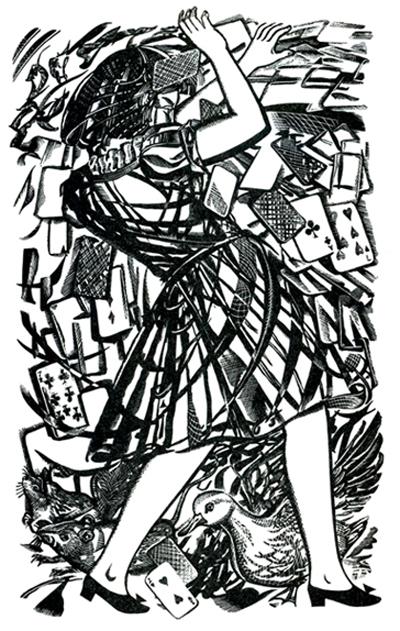 Alexander Dodon, ilustración para Алисе в Стране Чудес de Lewis Carroll, 2001.