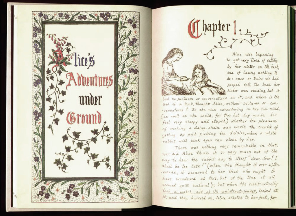 Lewis Carroll Alice's Adventures under Ground 1864.