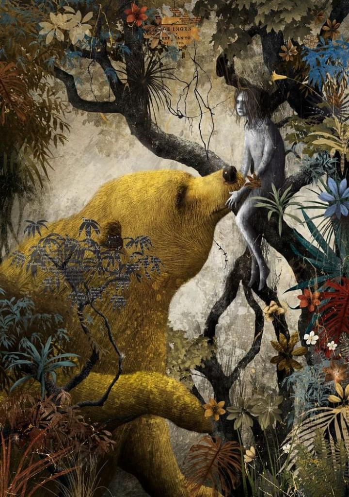 Ilustración de Gabriel Pacheco para El libro de la selva de Ruydard Kipling. Editorial Sexto Piso, 2013.