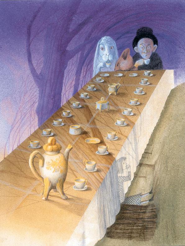 Julia Gukova, ilustración para Alice in Wonderland de Lewis Carroll, 1991.