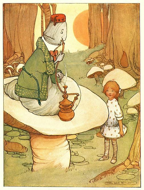 Mabel Lucie Attwell, ilustración para Alice in Wonderland de Lewis Carroll, 1910.