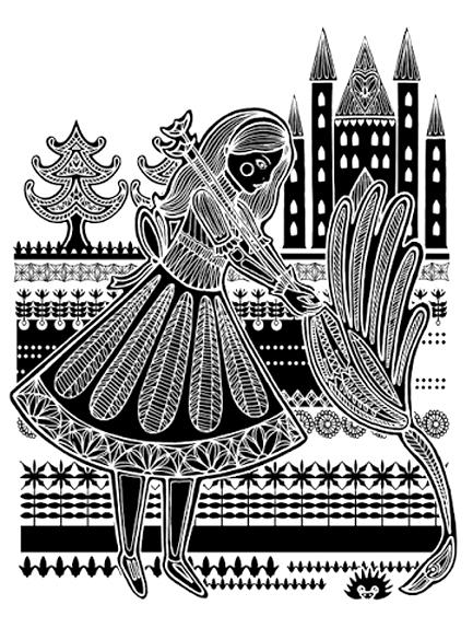 Poonam Mistry, ilustración para Alice's Adventures in Wonderland de Lewis Carroll, 2010.