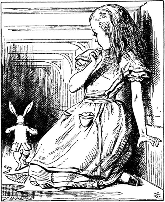 Sir John Tenniel, ilustraciones para Alice's Adventures in Wonderland de Lewis Carroll, 1865.