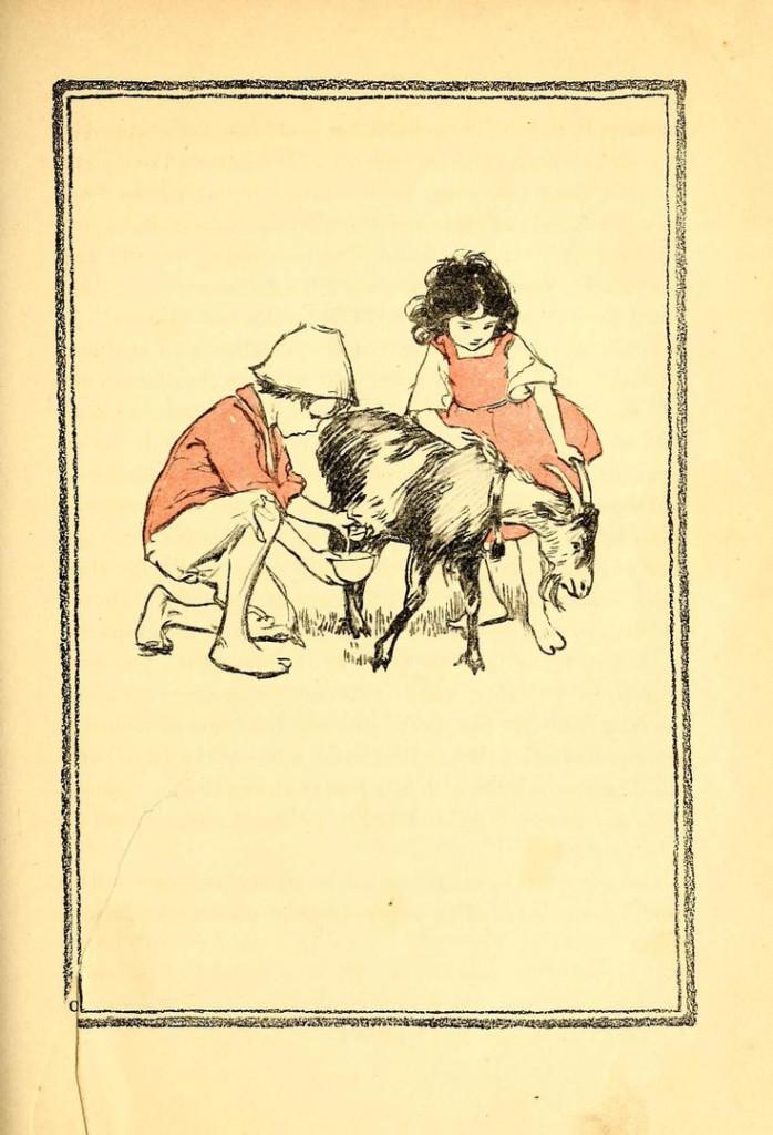 Ilustración de Jessie Willcox Smith para Heidi de Johanna Spyr. Edición de David McKay Company, 1922