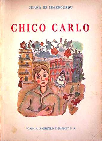 Portada de Chico Carlo de Juana de Ibarbourou. Ilustración de Amalia Nieto, 1944.