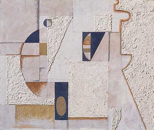 Willi Baumeister, Wall Picture with Segments, 1920.