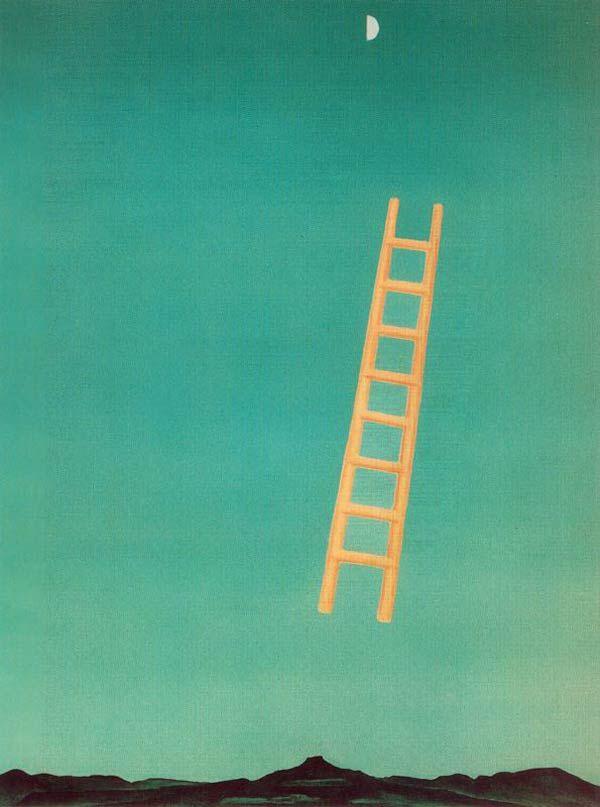 Georgia O'Keeffe, Ladder to the Moon, Whitney Museum of American Art, Nueva York, 1958.