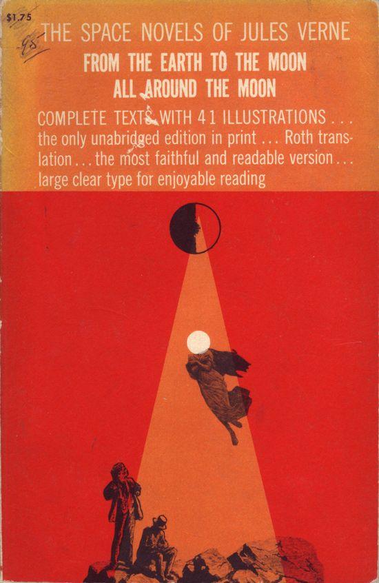 Lloyd Dixon y Bernard Etter, portada para The Space Novels of Jules Verne.