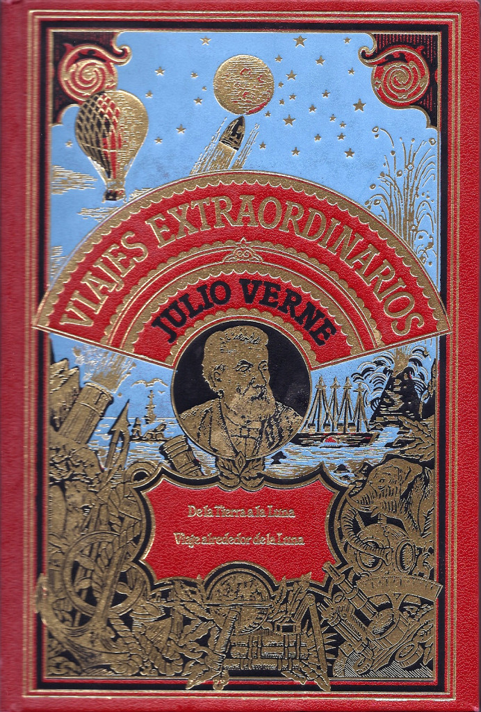 Portada de De la Tierra a la Luna y Alrededor de la Luna de Julio Verne, Ediciones Nauta, Barcelona, 1982.