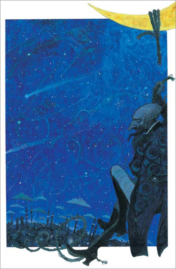 Vassilev Svetlin, ilustración para The adventures of Barón Münchhausen, Papadopoulos Publishing Atenas, 2005.