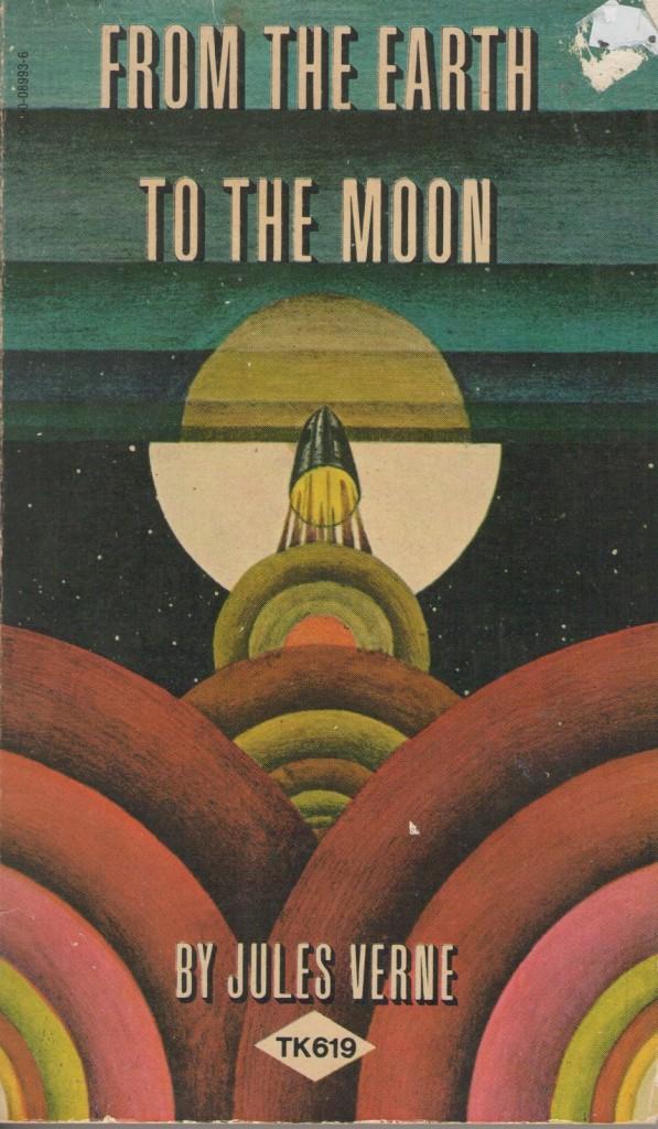 Portada de From the Earth to the Moon de Jules Verne, Scholastic Publishers, Nueva York, 1962.