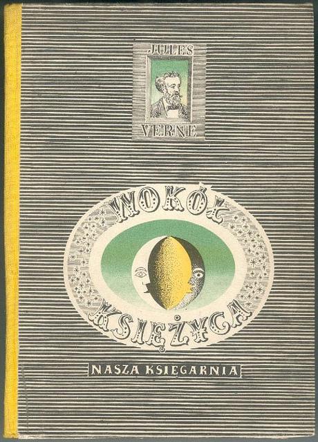 Portada para una edición polaca de Alrededor de la Luna, 1958.