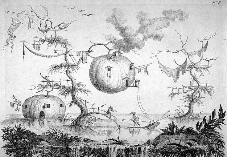 Viviendas en Raccolta de Filippo Morghen, Nápoles, 1768.