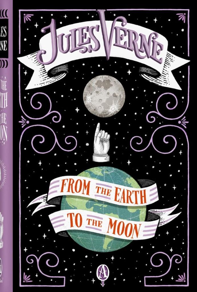 Portadas de Jim Tierney para From the Earth to the Moon.