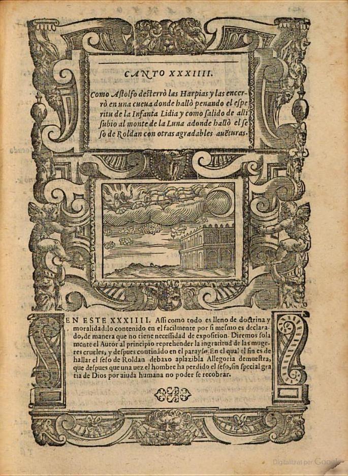 Ilustración para el canto XXXII de Orlando furioso de Ludovico Ariosto, Venecia, 1577.