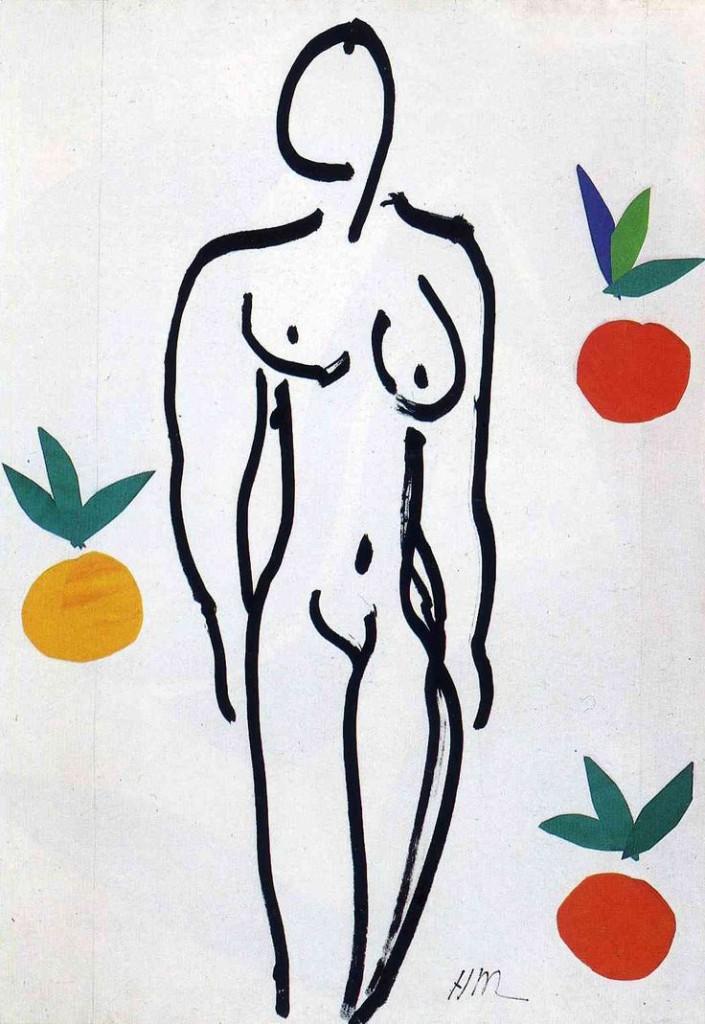 Henri Matisse, Desnudo con naranjas, 1951.