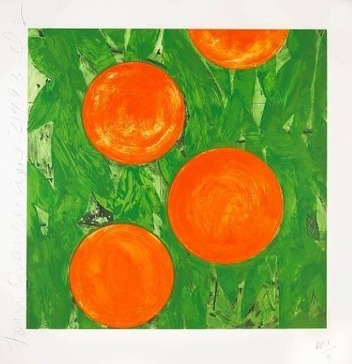 Donald Sultan, Four Oranges, 1993.