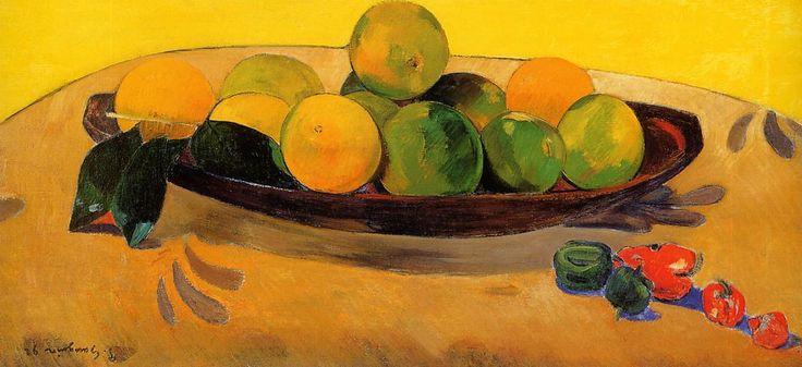 Paul Gauguin, Naturaleza muerta con naranjas tahitianas, 1892.