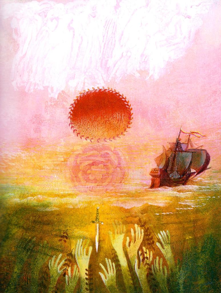 Josef Paleček, ilustraciones de La Sirenita, 1981.
