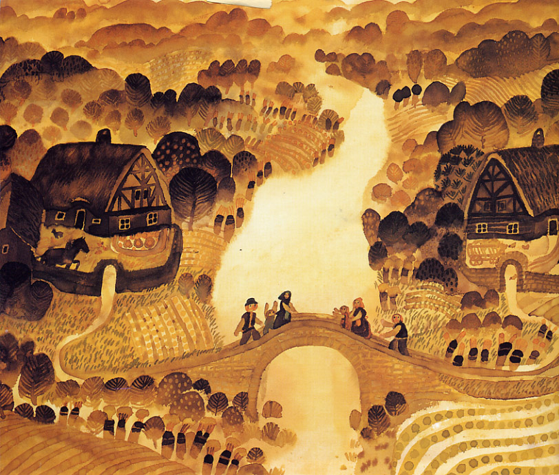 Ilustración de Štěpán Zavřel, (Checoslovaquia, 1932-1999).
