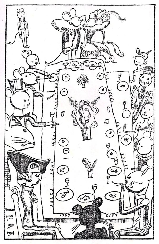 """Takeo Takei, ilustraciones de """"Ole Cierraojos"""", 1928."""