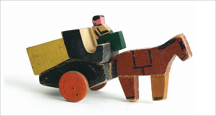 Joaquín Torres García, Carro con caballo, 1917-1919.