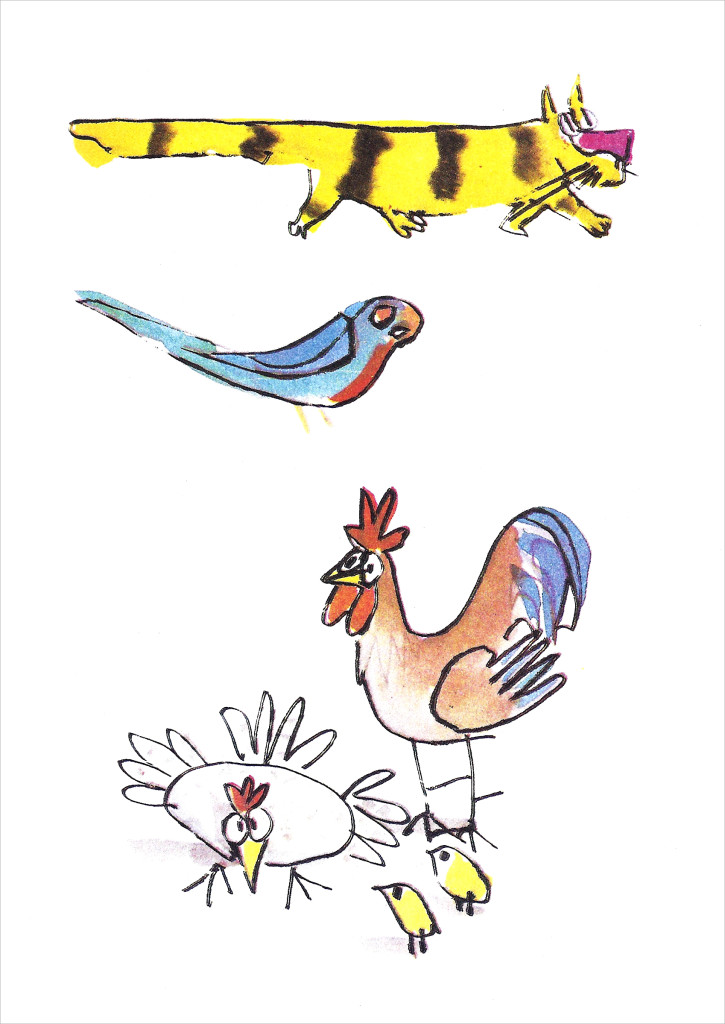 La historia que la Mañana relató al Tiempo para ganar la rosa azul, fue la del gato manchado y la Golondrina Sinhá.