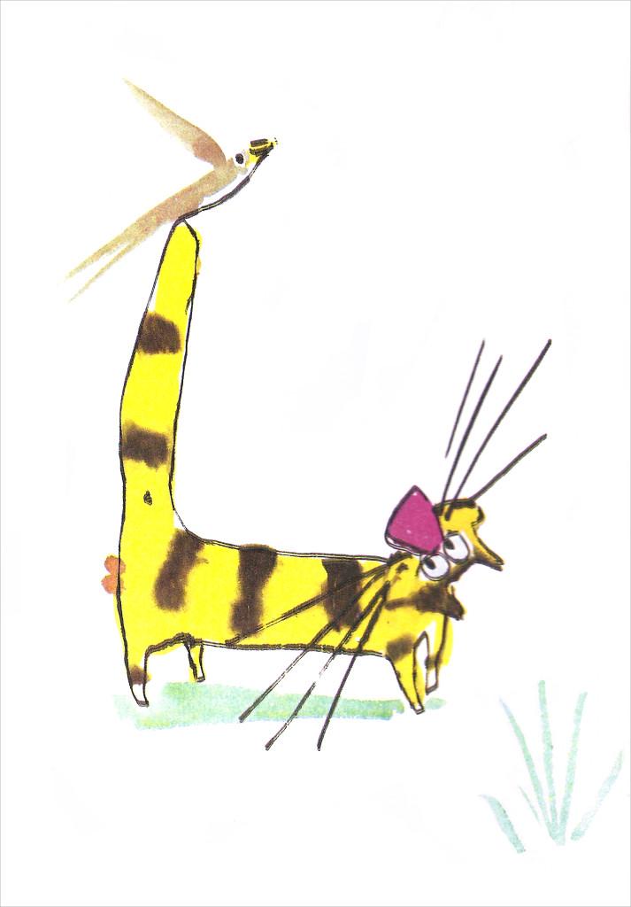 El Gato Manchado sintió deseos de decir algo agradable a la Golondrina Sinhá.