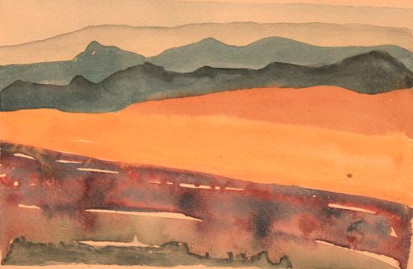Mónica Urriolagoitia, Mis paisajes (acuarela), 2004.