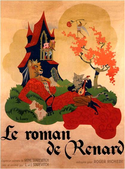 Afiche de Le roman de Renard (1930).