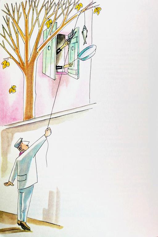 Sergio Tofano (Sto), ilustración para Marcovaldo (1963).