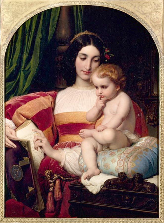Paul-Delaroche, La infancia de Pico de la Mirandolla,1845.
