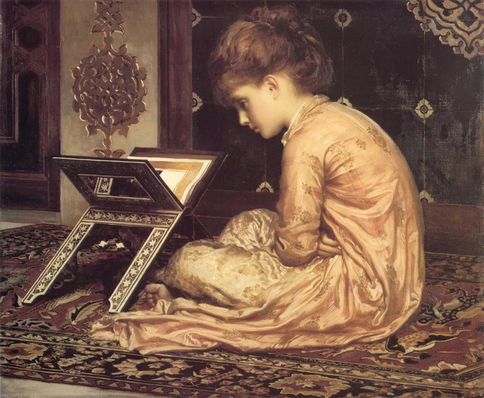 Frederic Leighton, Estudio en un atril, 1877.