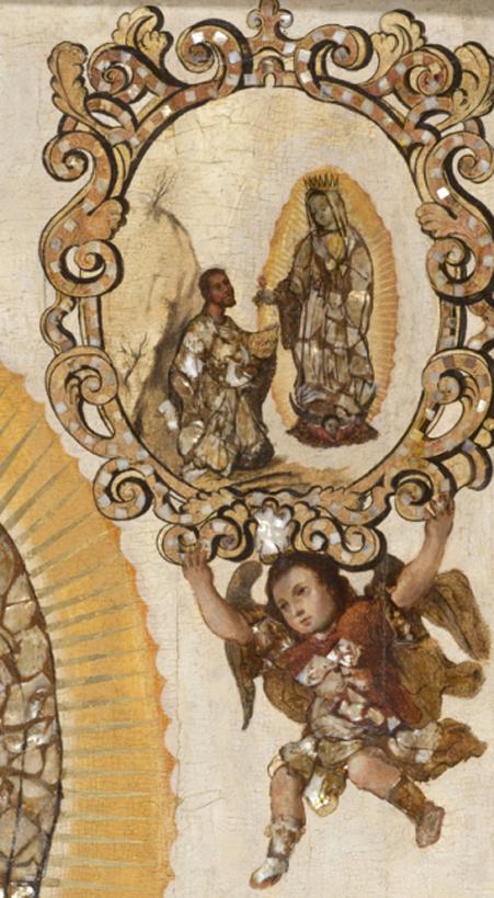 Detalles de La Virgen de Guadalupe  de Miguel González.