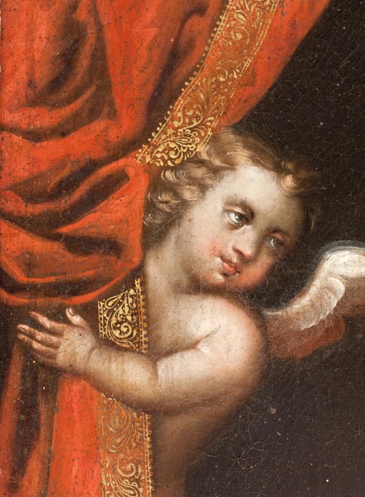 Detalles de Virgen de Belén. Escuela cuzqueña, 1700-1720.