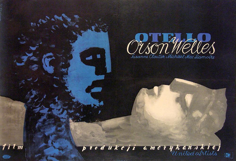 Poster polaco para Otelo (Orson Wells) de Jozef Mroszczak, 1952.