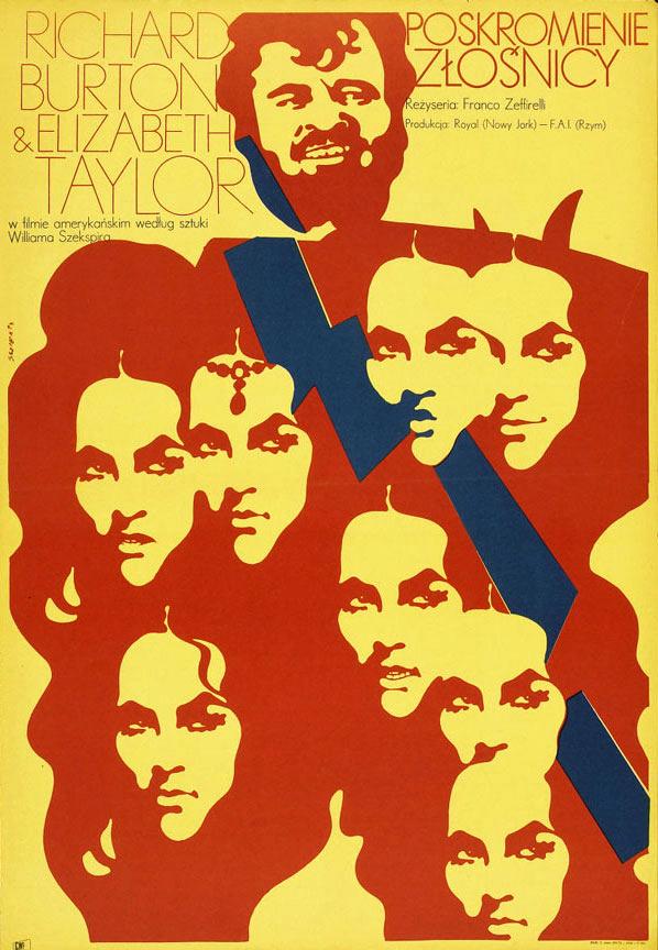 Versión polaca de La fierecilla domada (Franco Zeffirelli) por Waldemar Swierzy, 1971.