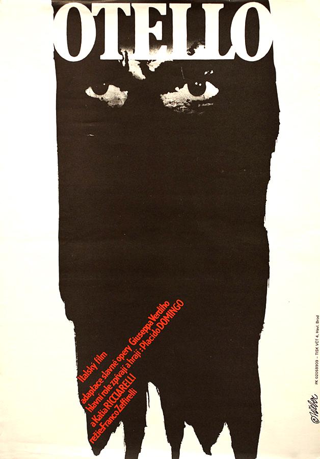 Poster checo para Otelo (Franco Zeffirelli) de Jan Weber, 1986.