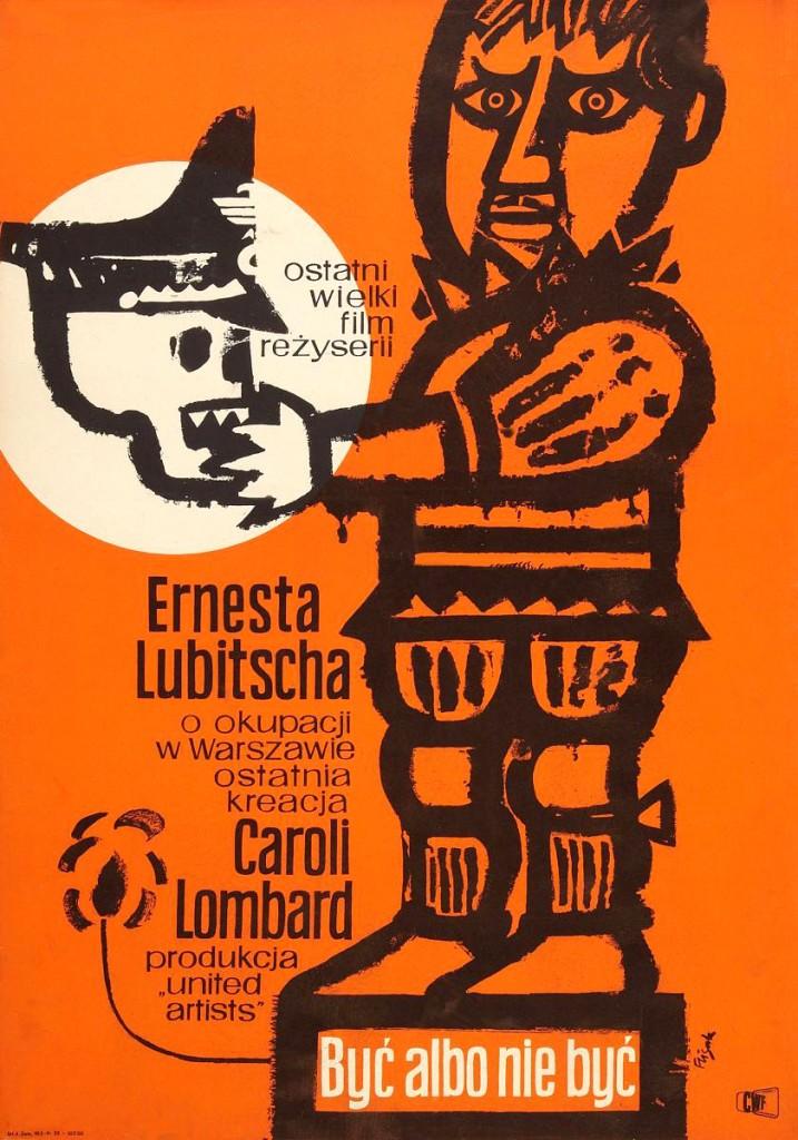 Versión polaca del poster para Ser o no ser de Ernst Lubistch, 1942.