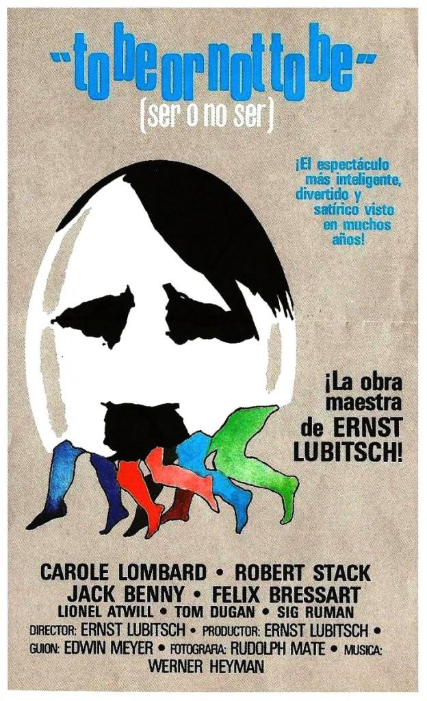 Poster español para Ser o no ser de Ernst Lubistch, 1942.