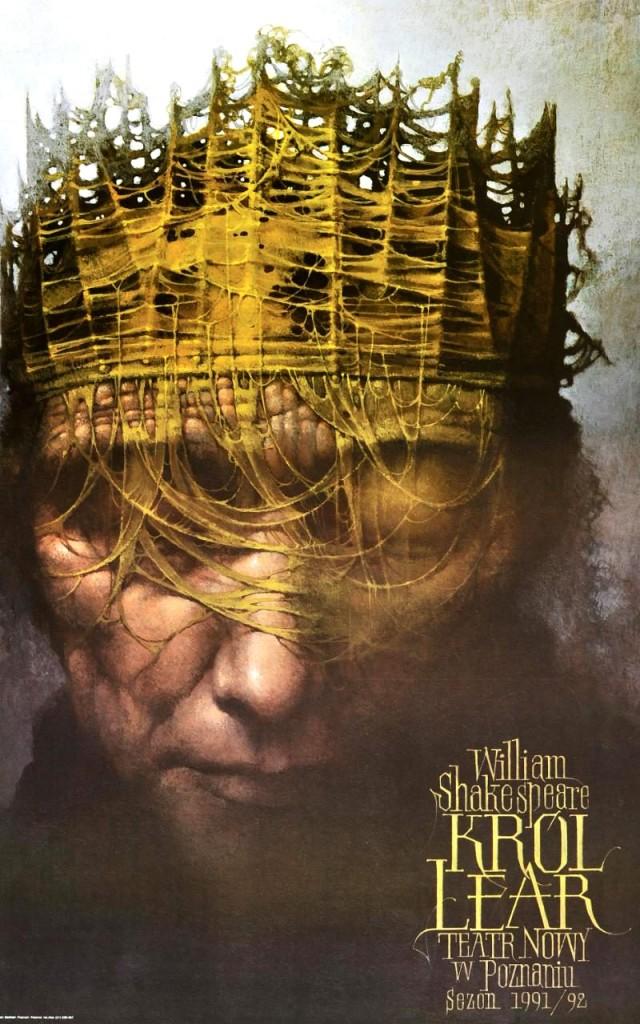Poster para Rey Lear de Wieslaw Walkusk, Polonia, 1991.