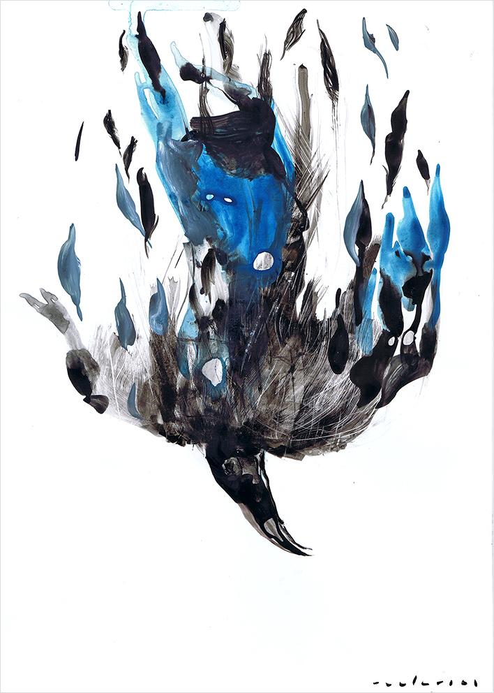 Ilustración de Raúl Arias para Macbeth (Reino de Cordelia, Madrid, 2015).