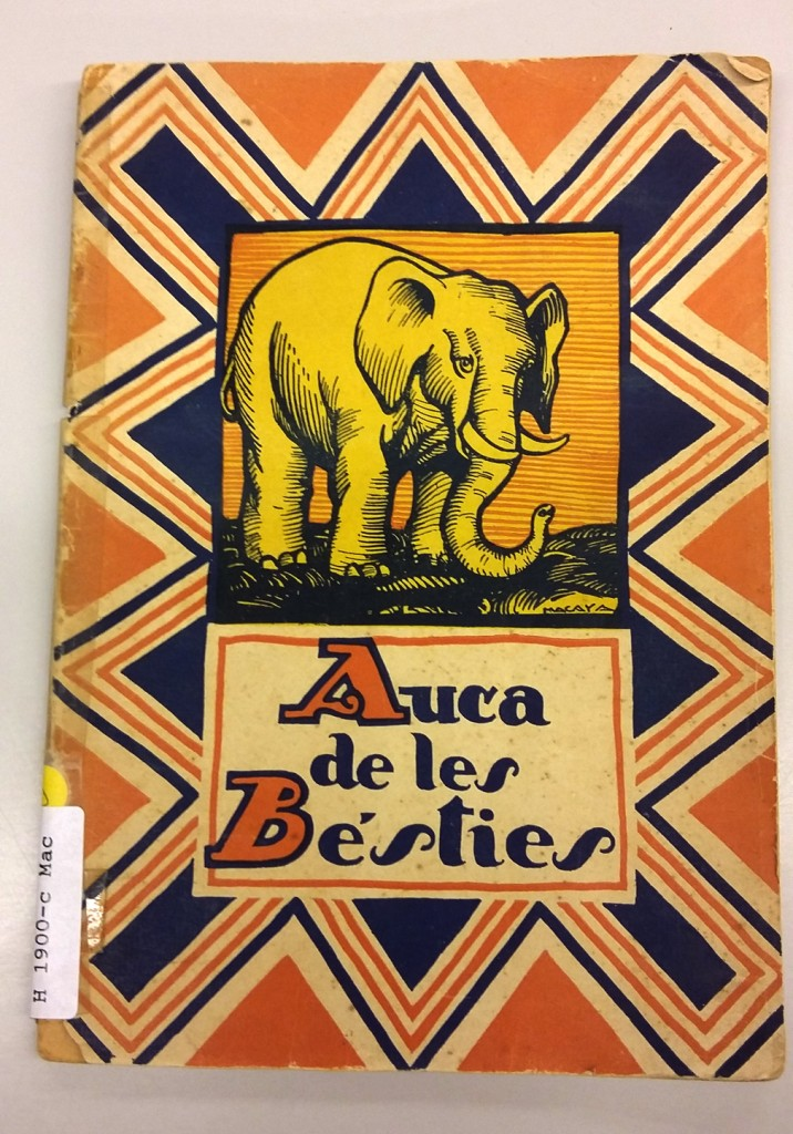 Auca de les bésties, ilustraciones de Lluís Macaya, Editorial Juventud, 1931.