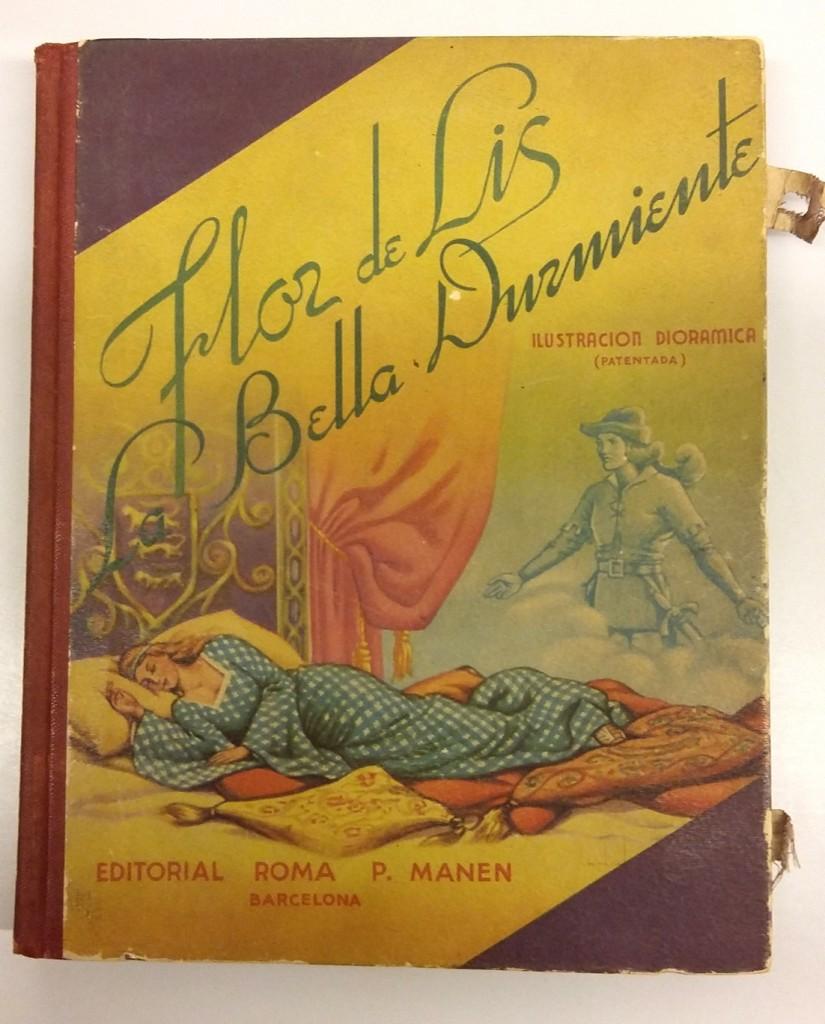 Flor de lis; La Bella durmiente de C. Perrault, ilustraciones de Josep Longoria, Editorial Roma, 1976.