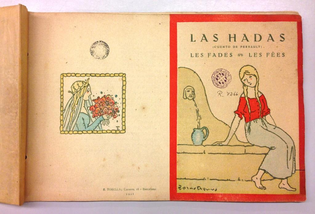 Las Hadas, Les Fades, Les Fées, de C. Perrault; ilustraciones de Pere Torné Esquius, Editorial Tobella, 1918.