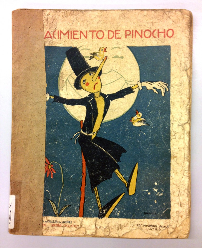 El Nacimiento de Pinocho, de Saturnino Calleja, ilustraciones de Salvador Bartolozzi, Editorial Saturnino Calleja, 1930.