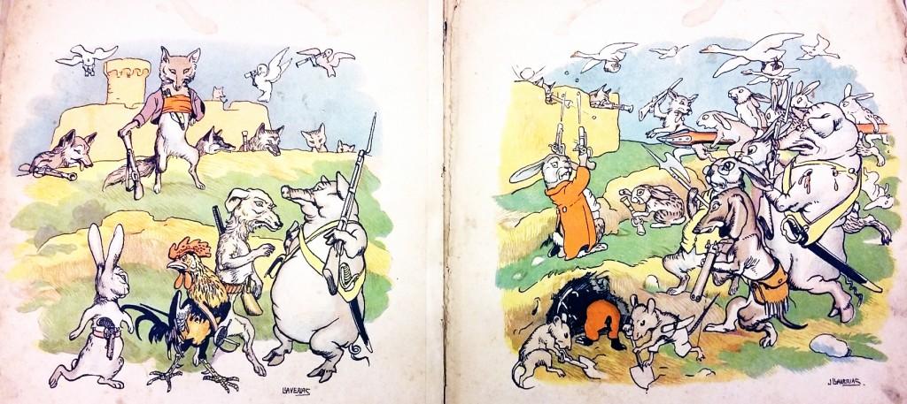 Guillot, bandoler; texto de Carles Riba; ilustraciones de Josep Llaverias; Editorial Muntañola, Barceloona, 1919.
