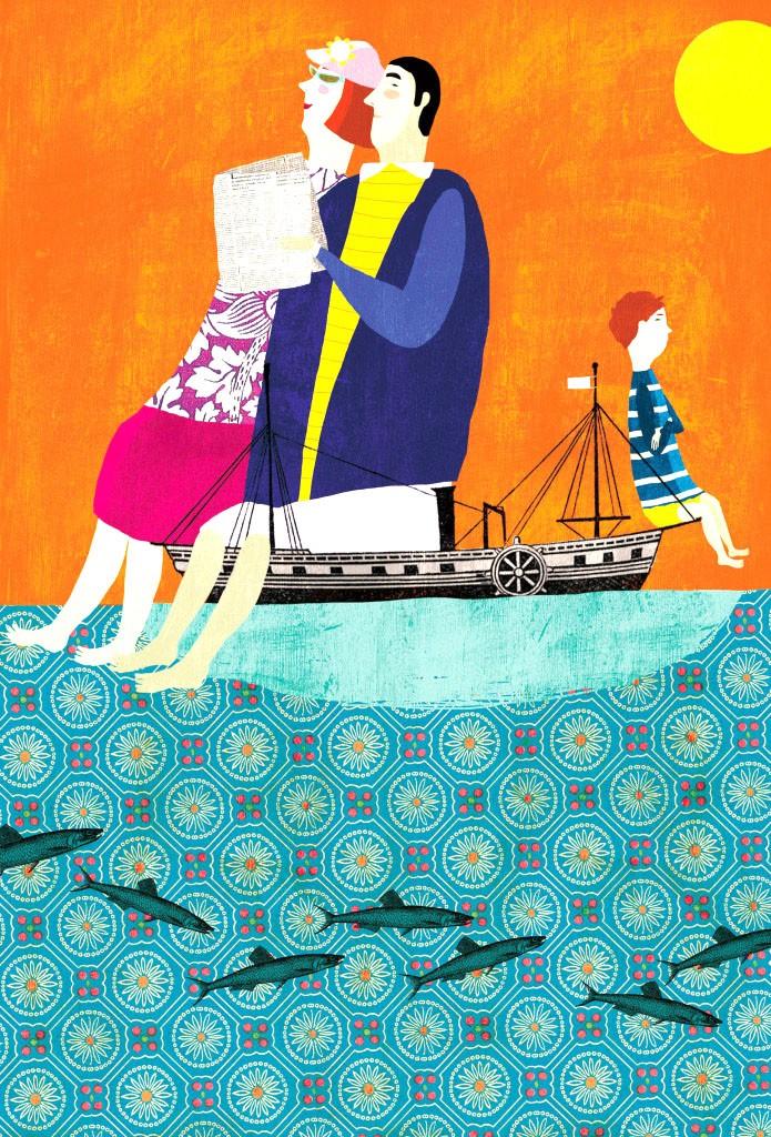 """Mariona Cabassa, """"Miedo a jugar"""", ilustración para La Vanguardia Magazine, 2011."""